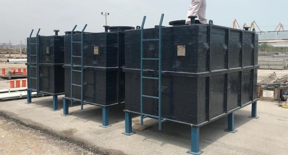 مخازن ذخیره آب کامپوزیتی سکوی نفتی هنگام